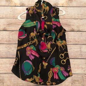 Ralph Lauren equestrian blouse .